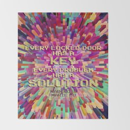 Every locked door has a key. Every problem has a solution. Warcross Throw Blanket