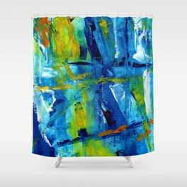 Bluesky painting part 1 #eclecticart Shower Curtain