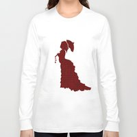 victorian Long Sleeve T-shirts featuring VICTORIAN WOMAN by Caio Trindade