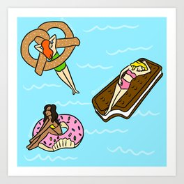 Junk Food Floaties Art Print
