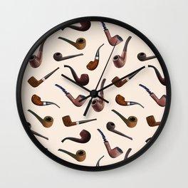 Tobacco Pipes Wall Clock