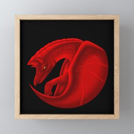 fierce dragon Framed Mini Art Print