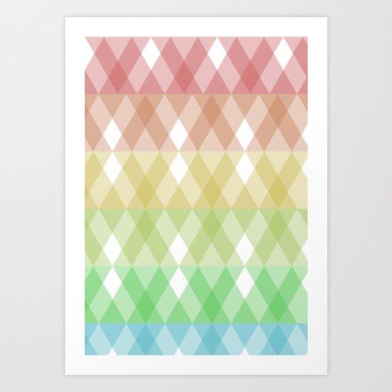 Tringles Gradient Art Print