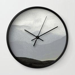 Rannoch Moor - mists and mountains Wall Clock