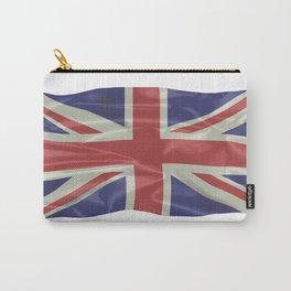 Silk Union Jack Flag Carry-All Pouch