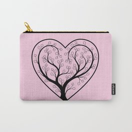 Love grows, Pink and black Carry-All Pouch