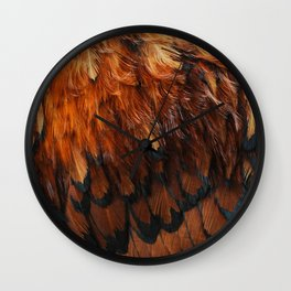Feathers Too Wall Clock