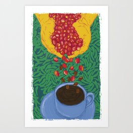 From the coffee bean Art Print