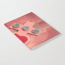 pink cross Notebook