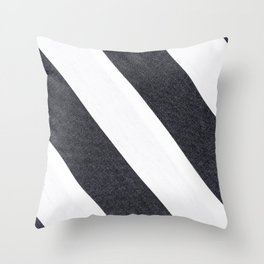 White & Black Stripes Throw Pillow