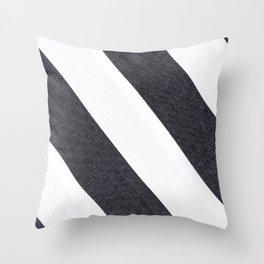 White & Black Stripes Throw Pillow