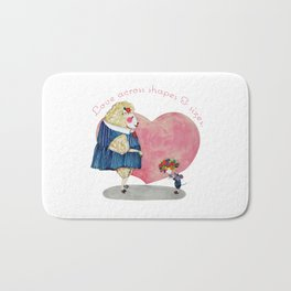 Love Across Shapes and Sizes Bath Mat
