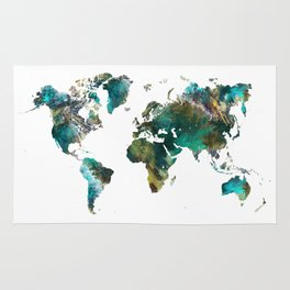 Map of the World tree Rug
