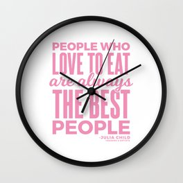 The Best People (Pink) Wall Clock