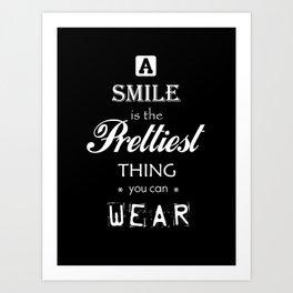 a smile Art Print