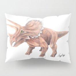 Orange Triceratops Pillow Sham