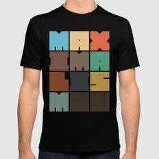 MAXIMALISM.. (Colors) Black Mens Fitted Tee MEDIUM
