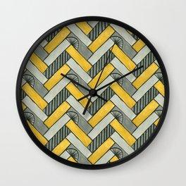Deco Parquet Wall Clock