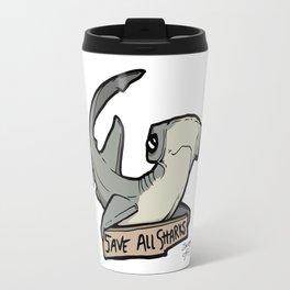Save All Sharks (says Bonnie!) Travel Mug