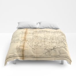 Map of China Chinese-Tartary & Tibet (1834) Comforters