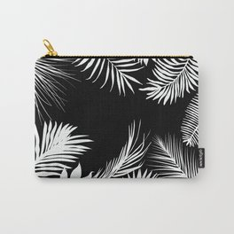 Palm Leaves In Black And White Carry-All Pouch