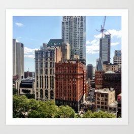 Civic Center Manhattan Art Print