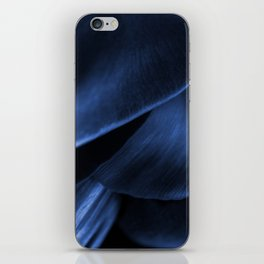 Succulent Leaf In Blue Color #decor #society6 #homedecor iPhone Skin