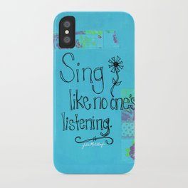 Sing iPhone Case