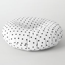 Minimal - Small black polka dots on white - Mix & Match with Simplicty of life Floor Pillow
