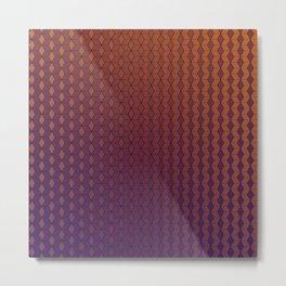 Gradient cube pattern warm Metal Print