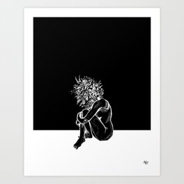 Blossom in the Void Art Print