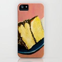 YELLOW CAKE AND ICE CREAM iPhone Case