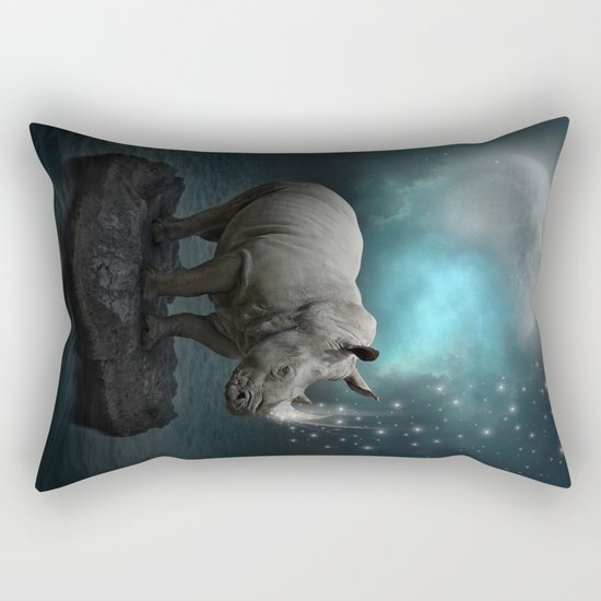 Power Is No Blessing In Itself v.2 (Protect the Rhino)  Rectangular Pillow