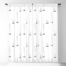 Lifts from and to nowhere Blackout Curtain