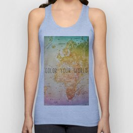Color your World Unisex Tank Top