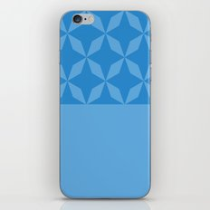 Abstract geometric pattern - blue. iPhone Skin