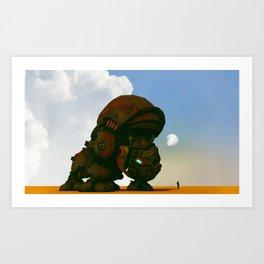 My little pet rhino Art Print