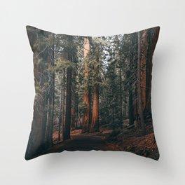 Walking Sequoia Throw Pillow