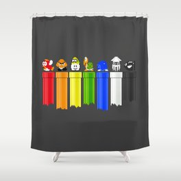 Drainbow Shower Curtain