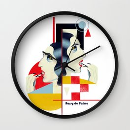 Famous people in a bauhaus style - Rossy de Palma Wall Clock