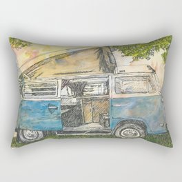 Open Camper Van Rectangular Pillow