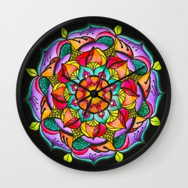 Watercolor Mandala #10 - Original Wall Clock