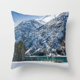 Achensee Winter Landscape Throw Pillow