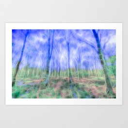 Mystical Forest Art Art Print
