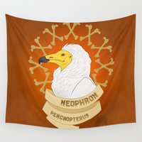 egyptian Wall Tapestries featuring Egyptian Vulture by LostReach