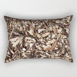 Wood Chips Rectangular Pillow