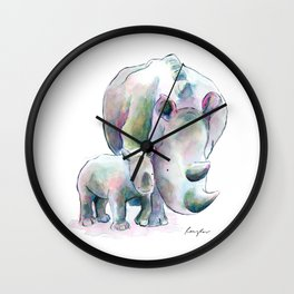 Rhino & Baby Wall Clock