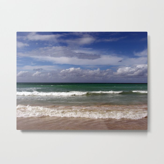 Water, Waves, Sand... | Seascape | Beach Landscape Metal Print