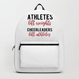 Funny Cheerleading Athlete Lifting Cheerleader Graphic Backpack