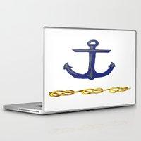 nautical Laptop & iPad Skins featuring Nautical by DesignSam